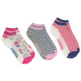 Kangol Womens 3 Pack Trainer Socken